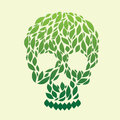 Leaf skull vector go green icon and forest Royalty Free Stock Images