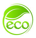 Leaf swoosh eco plant seal Royalty Free Stock Photos