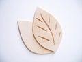 Leaf symbol logo concept, wood cutting design illustration icon Royalty Free Stock Photo