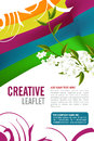 Leaflet design editable template Royalty Free Stock Photography