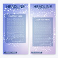 Leaflet flyer layout. Magazine cover corporate identity template. Science and technology