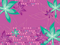 Leafy floral dots magenta Royalty Free Stock Photography