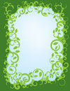 Leafy green swirl border a made up of swirls and vines with leaves attached Royalty Free Stock Image