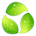 Leafy Recycle Symbol Royalty Free Stock Image