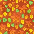Leafy seamless background eps vector illustration Royalty Free Stock Photo