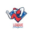 League Champions Baseball Retro Stock Photo