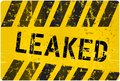Leak sign worn and grungy vector illustration Stock Photography