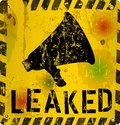 Leak sign worn and grungy vector illustration Royalty Free Stock Photos