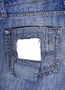 Leaky back pocket of jeans Royalty Free Stock Photography