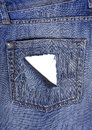 Leaky back pocket of jeans Royalty Free Stock Photo