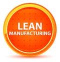 Lean Manufacturing Natural Orange Round Button Royalty Free Stock Photo