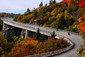 Lean in for a ride on blue ridge parkway viaduct during fall the wonderful experience with the mountains around you the parkways Stock Image