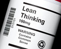 Lean Thinking Royalty Free Stock Photo