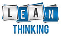 Lean Thinking Blue Silver Blocks Royalty Free Stock Photo
