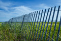 Leaning Sand Fence Royalty Free Stock Photo