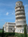 Leaning tower of pisa this is the famous bell for the cathedral in Royalty Free Stock Image