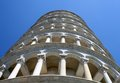 Leaning tower of Pisa in Piazza dei Miracoli photographed from b Royalty Free Stock Photo