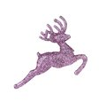 Leaping reindeer glitter christmas ornament isolated on a white background Stock Image