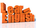 Learn english d design d extrude text and word Royalty Free Stock Photography