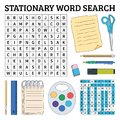 Stationary word search game for kids. Vector illustration for le