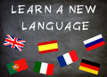 Learn a new language graphic Royalty Free Stock Image