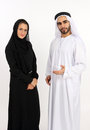 Learn about our culture arab couple invite guests to their Royalty Free Stock Photography