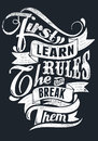 Learn the rules vector illustration ideal for printing on apparel clothes Stock Photos