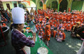 Learn to cook kindergarten students the bread in the city of solo central java indonesia Stock Photography