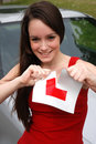 Learner driver Stock Image