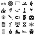 Learner icons set, simple style