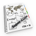 Learning as concept illustration design over a notebook Royalty Free Stock Images