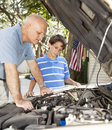 Learning Auto Repair Stock Photos