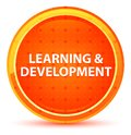 Learning & Development Natural Orange Round Button Royalty Free Stock Photo