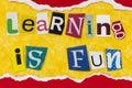 Learning fun school student children enjoy education knowledge Royalty Free Stock Photo
