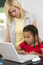 Learning At Home Royalty Free Stock Photos