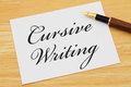 Learning how to write cursive Royalty Free Stock Photo