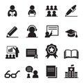 Learning icon set Royalty Free Stock Photo