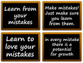 Learning from mistakes Royalty Free Stock Photo