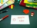 Learning new language making original flash cards vietnamese Royalty Free Stock Images