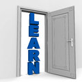Learning opportunity door way Stock Photography