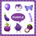 Learning Purple color Royalty Free Stock Photo