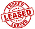 Leased red grunge stamp Royalty Free Stock Photo