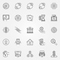 Leasing and loan icons set