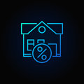 Leasing property blue icon