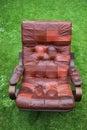 Leather armchair retro Royalty Free Stock Photo