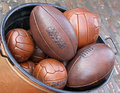 Leather balls Stock Photos