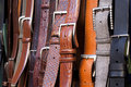 Leather belts Royalty Free Stock Image