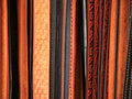 Leather belts black and brown texture background Royalty Free Stock Photos