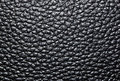 Leather black background of genuine surface roughness Royalty Free Stock Image