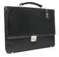 Leather black briefcase Royalty Free Stock Image